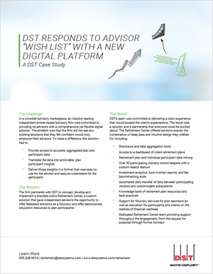 "DST responds to advisor ""wish list"" with a new digital platform"