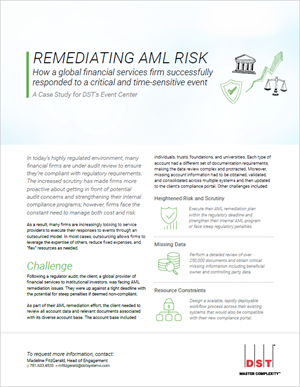 Remediating AML risk