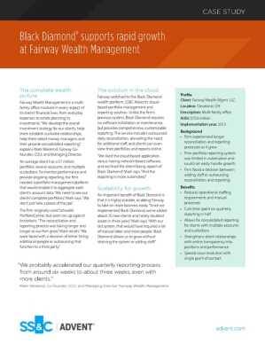 Black Diamond ® supports rapid growth at Fairway Wealth Management