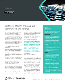 Balentine - Building the complete tech stack with Black Diamond® and Riskalyze