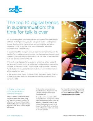 Ten Digital Trends in Superannuation