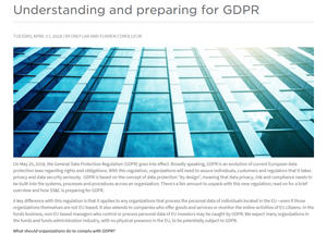 Understanding and preparing for GDPR