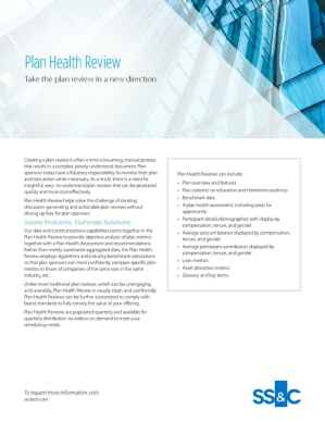 Plan health review