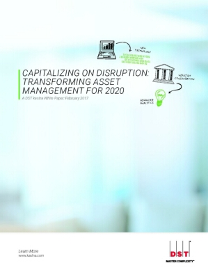 Capitalizing on Disruption: Transforming Asset Managers for 2020