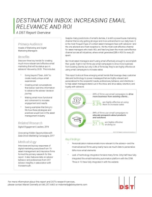 Destination Inbox: Increasing Email Relevance and ROI