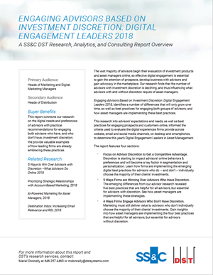 Engaging Advisors Based on Investment Discretion: Digital Engagement Leaders 2018