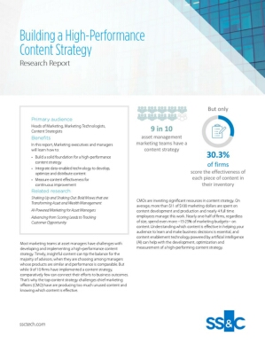 Building a High-Performance Content Strategy