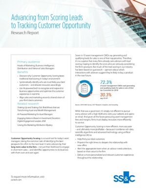 Advancing from Scoring Leads to Tracking Customer Opportunity