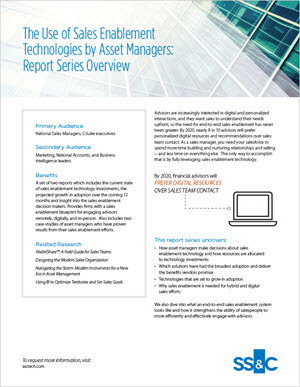 The Use of Sales Enablement Technologies by Asset Managers Report Series