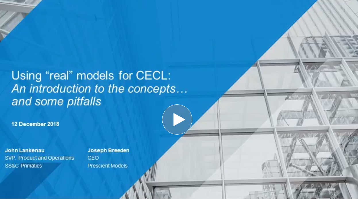 "Using ""real"" models for CECL: An introduction to the concepts and some pitfalls"