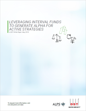 Leveraging interval funds to generate alpha for active strategies