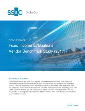 Fixed Income Evaluations Vendor Benchmark Study (2017)