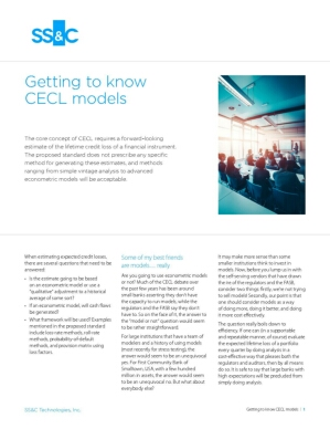 Getting to know CECL models