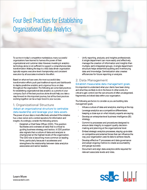 Four best practices for establishing organizational data analytics