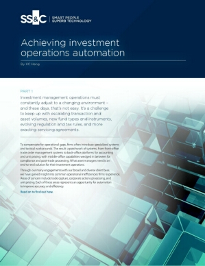 Achieving investment operations automation
