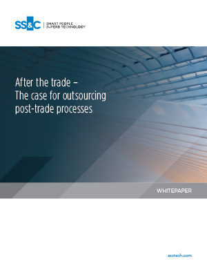 After the trade – The case for outsourcing post-trade processes