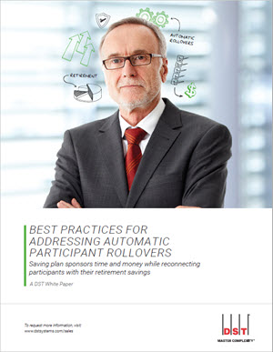 Best practices for addressing automatic participant rollovers